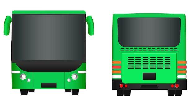 Modelo de ônibus da cidade verde. transporte de passageiros. vetor eps de ilustração 10 isolado no fundo branco.