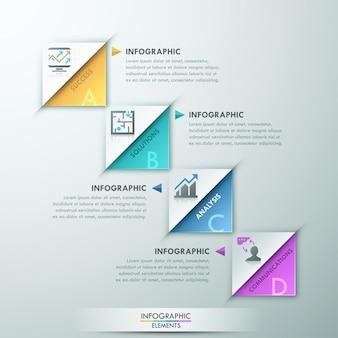 Modelo de opção moderna infográfico