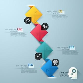 Modelo de opções de estilo de origami empresarial moderno passo