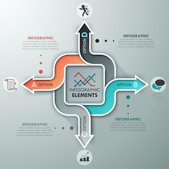 Modelo de opções de infografia moderna
