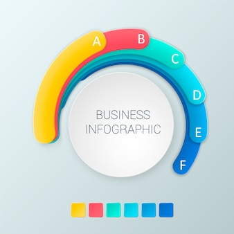 Modelo de opções de infográficos abstrata