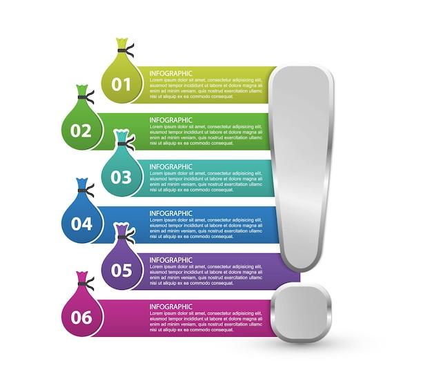 Modelo de opções de infográficos. infográficos para apresentações de negócios ou banner de informações.