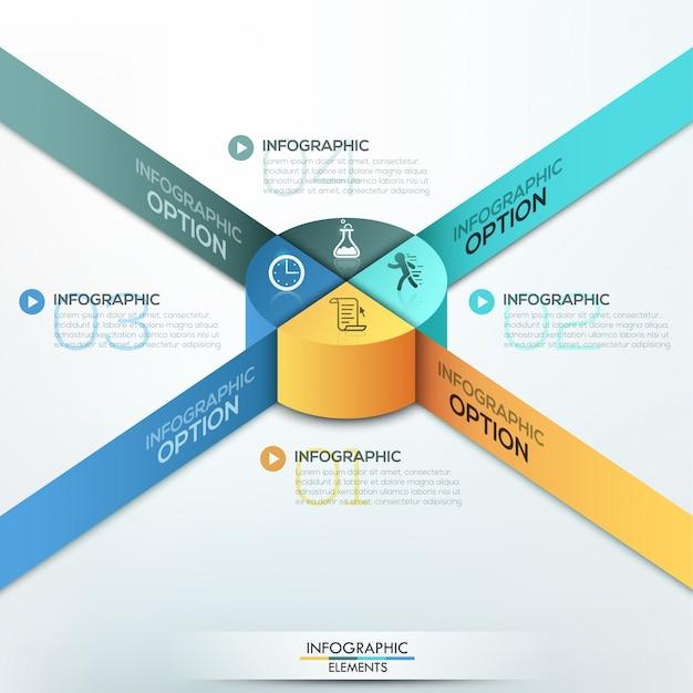 Modelo de opções de infográficos isométrica