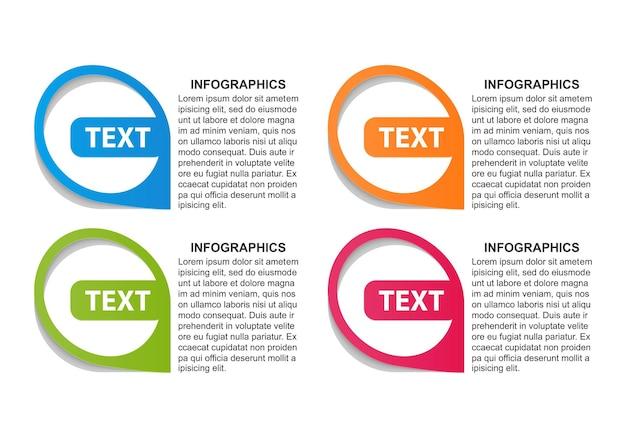 Modelo de opções de infográficos.