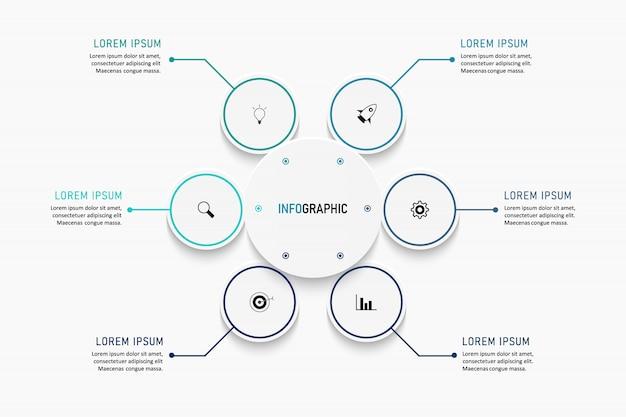 Modelo de opções de número de infográficos modernos. ilustração. pode ser usado para layout de fluxo de trabalho, diagrama, opções de etapas de negócios, banner, web design.