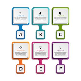 Modelo de organograma de design infográfico