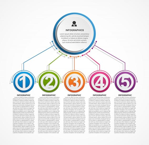 Modelo de organograma infográfico design.