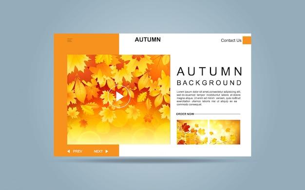 Modelo de outono de página de aterrissagem para o site.