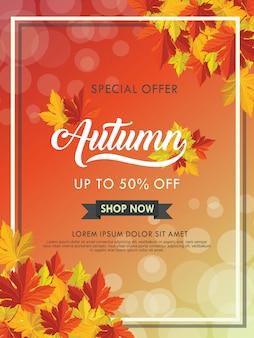 Modelo de outono para promoção