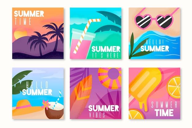 Modelo de pacote de cartão de verão