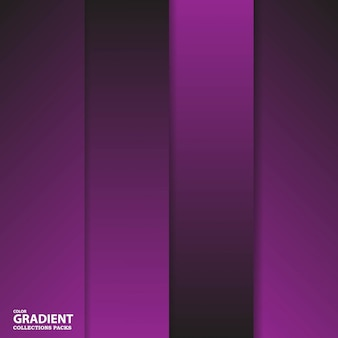 Modelo de pacote de coleção de cores de gradiente