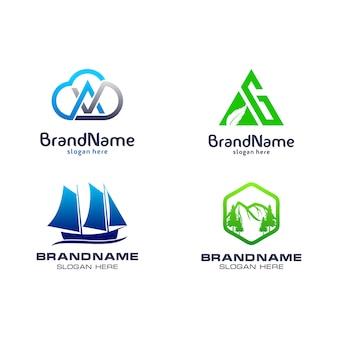Modelo de pacote de logotipo
