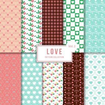 Modelo de pacote de padrão de amor lindo