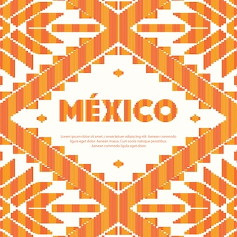 Modelo de padrão de estilo mexicano