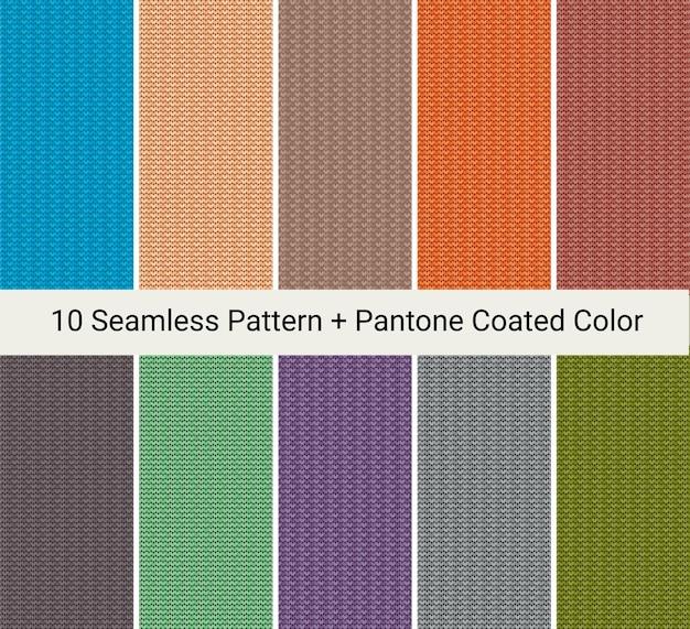 Modelo de padrão de tricô sem costura