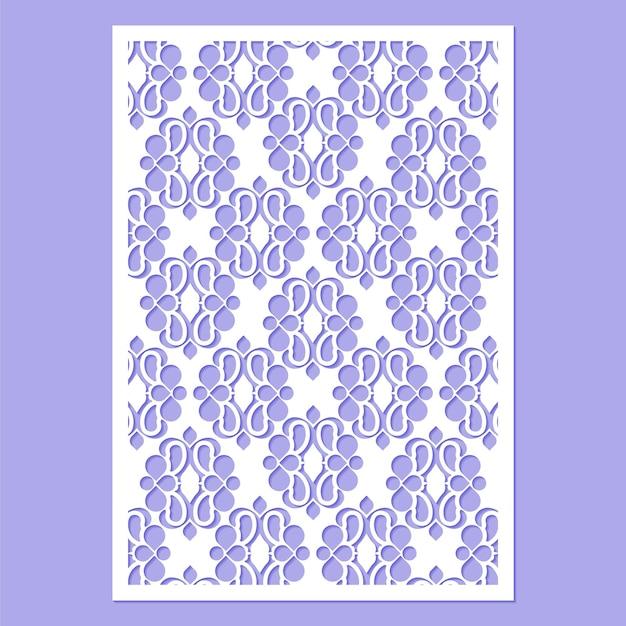 Modelo de padrão decorativo cortado sem costura
