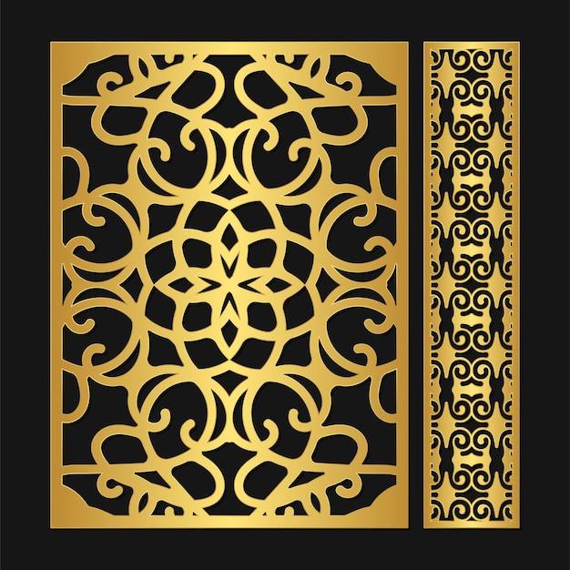 Modelo de padrão decorativo de luxo sem costura cortada