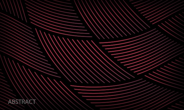 Modelo de padrão geométrico abstrato com fundo preto