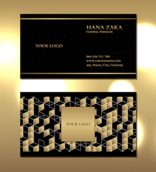 Modelo de padrão geométrico de cartão de visita de luxo