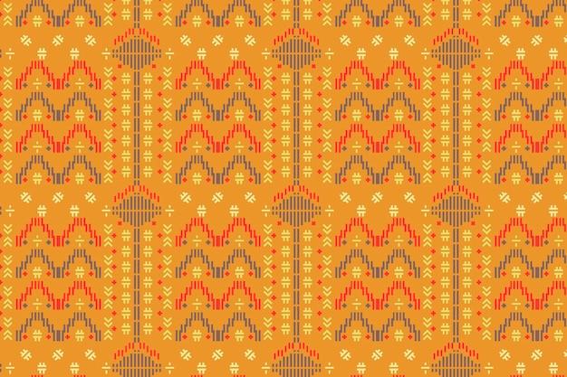 Modelo de padrão sem emenda amarelo songket
