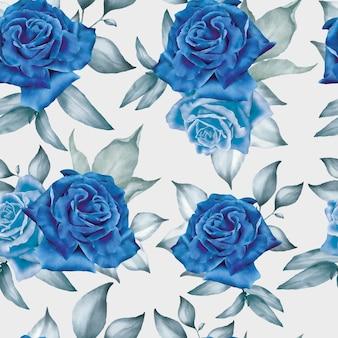 Modelo de padrão sem emenda de arranjo floral