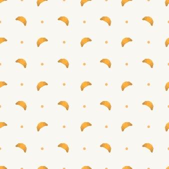Modelo de padrão sem emenda de croissant para embalagem