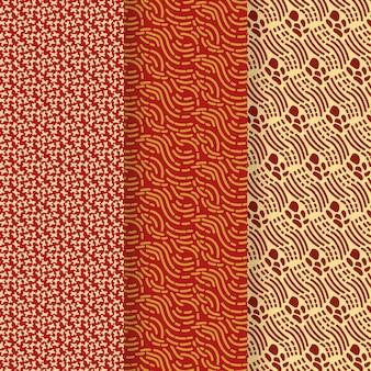Modelo de padrão sem emenda de linhas arredondadas abstratas