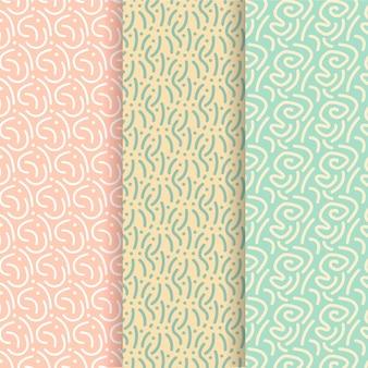 Modelo de padrão sem emenda de linhas arredondadas