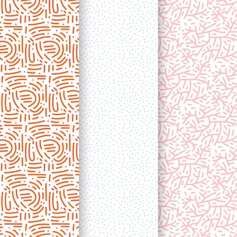 Modelo de padrão sem emenda de linhas pastel