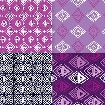 Modelo de padrão sem emenda de violet songket