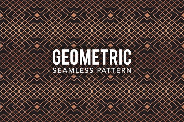 Modelo de padrão sem emenda geométrico de luxo ouro