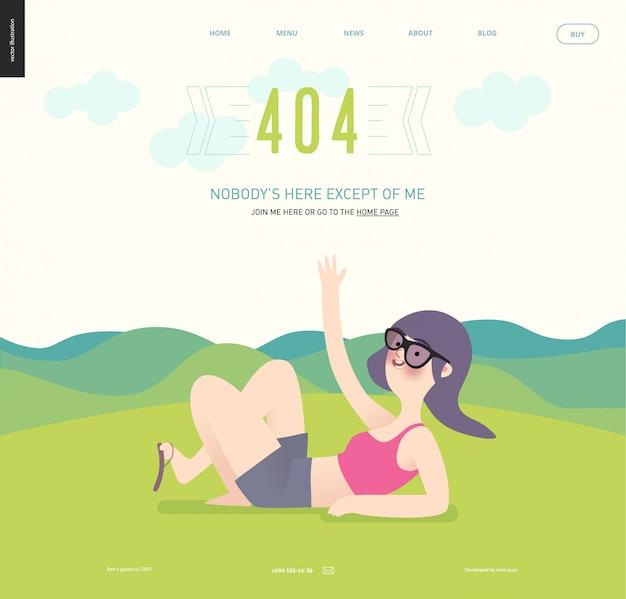 Modelo de página da web de erro 404