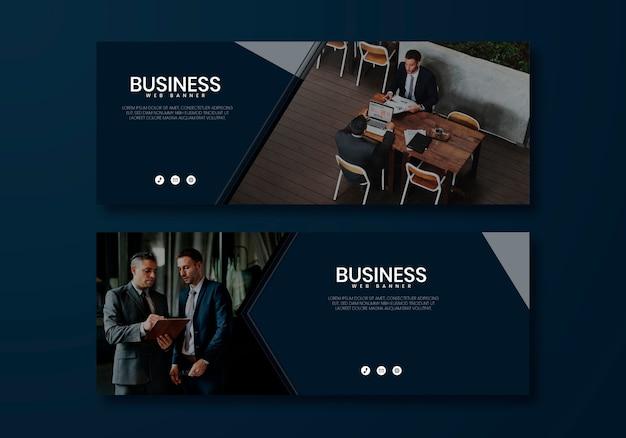Modelo de página da web de negócios