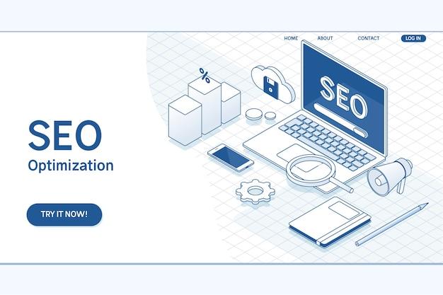Modelo de página da web de otimização de seo