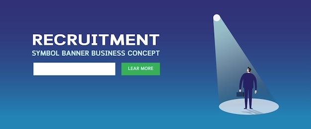 Modelo de página da web de recrutamento