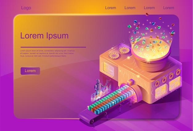 Modelo de página da web de serviço de sistematização de big data