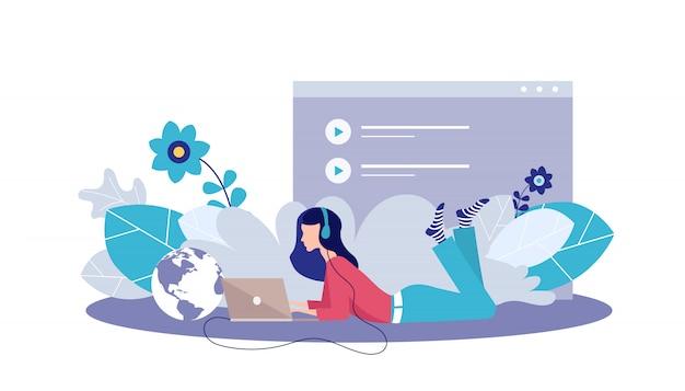 Modelo de página da web para aplicativos de música on-line