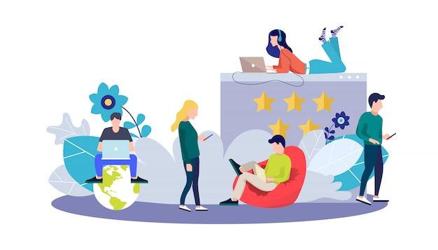 Modelo de página da web para feedback e notificações