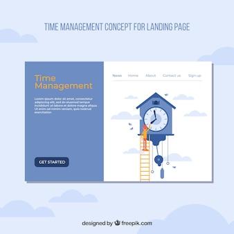 Modelo de página de aterrissagem com conceito de negócio