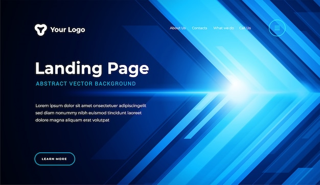 Modelo de página de aterrissagem de site abstrato estilo moderno