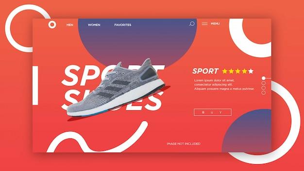 Modelo de página de aterrissagem, modelo de banner de venda moderna. modelo de design da web