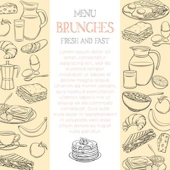 Modelo de página de café da manhã