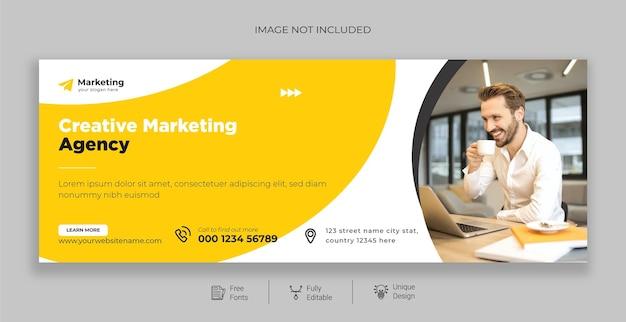 Modelo de página de capa do facebook de marketing digital gratuito