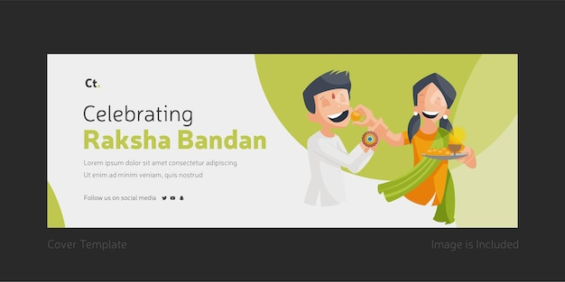 Modelo de página de capa para celebrar raksha bandhan