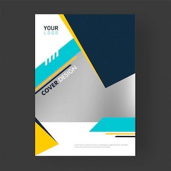 Modelo de página de capa promocional.