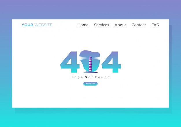 Modelo de página de destino 404 erorr