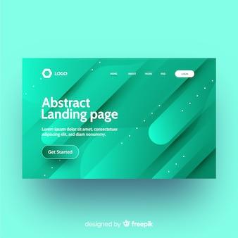 Modelo de página de destino abstrato plana