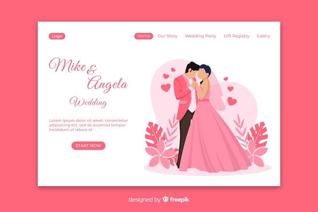 Modelo de página de destino apenas casado