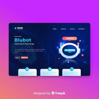 Modelo de página de destino blubot