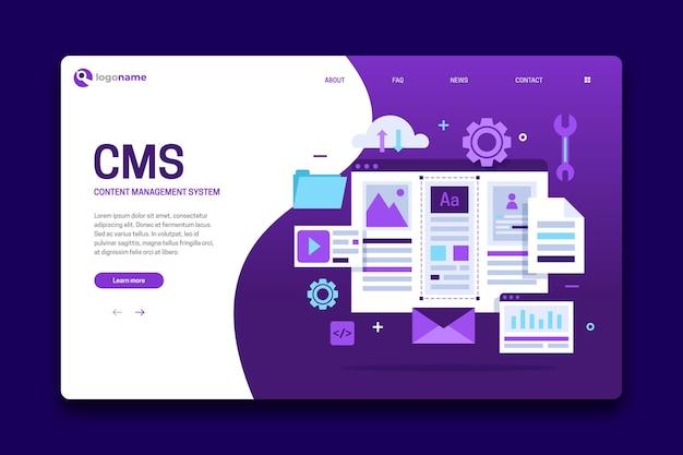Modelo de página de destino cms